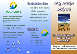 "Ecoplumb ""Why Waste Water"" Flyer"
